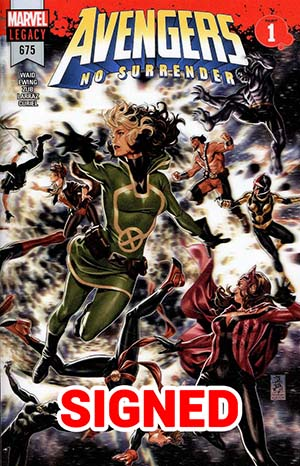 Avengers Vol 6 #675 Cover M Regular Mark Brooks 3D Lenticular Wraparound Cover Signed By Jim Zub (No Surrender Part 1)(Limit 1 Per Customer)