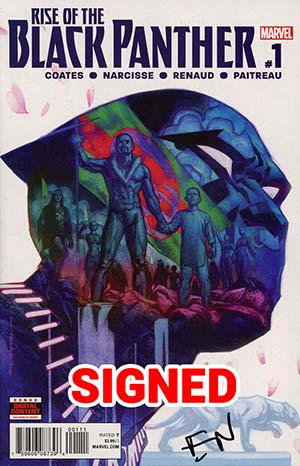 Rise Of The Black Panther #1 Cover G Regular Brian Stelfreeze Cover Signed By Evan Narcisse (Marvel Legacy Tie-In)(Limit 1 Per Customer)