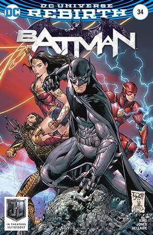 Batman Vol 3 #34 Cover B Variant Tony S Daniel Justice League Cover