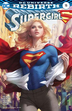 Supergirl Vol 7 #15 Cover B Variant Stanley Artgerm Lau Cover