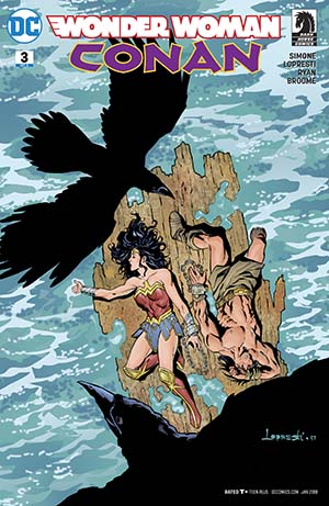 Wonder Woman Conan #3 Cover B Variant Aaron Lopresti Cover