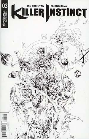 Killer Instinct Vol 2 #3 Cover D Incentive Jonathan Lau Black & White Cover