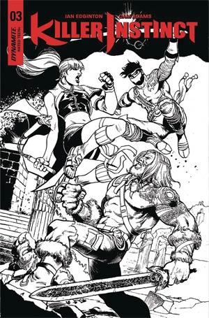 Killer Instinct Vol 2 #3 Cover E Incentive Yildiray Cinar Black & White Cover