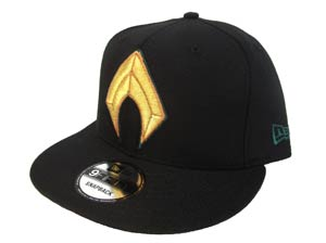 Justice League Movie Aquaman Symbol Black 950 Snapback