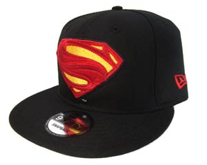 Justice League Movie Superman Symbol Black 950 Snapback