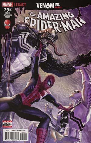 Amazing Spider-Man Vol 4 #792 Cover A 1st Ptg Regular Alex Ross Cover (Venom Inc Part 2)(Marvel Legacy Tie-In)