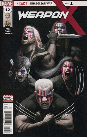 Weapon X Vol 3 #12 Cover A Regular Rahzzah Cover (Marvel Legacy Tie-In)