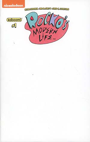 Rockos Modern Life Vol 2 #1 Cover C Variant Blank Cover