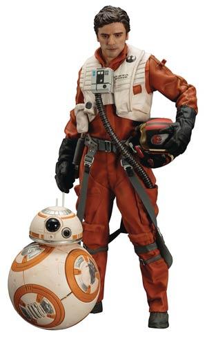 Star Wars Episode VII The Force Awakens Poe Dameron & BB-8 ARTFX Plus 2-Pack Statue