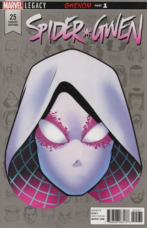 Spider-Gwen Vol 2 #25 Cover E Incentive Mike McKone Legacy Headshot Variant Cover (Marvel Legacy Tie-In)