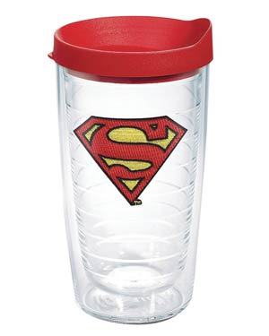 DC Comics Superman 16-Ounce Tumbler With Red Lid