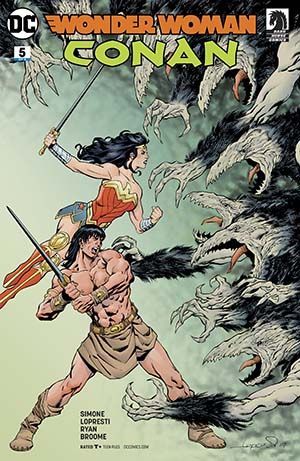 Wonder Woman Conan #5 Cover A Regular Aaron Lopresti Cover