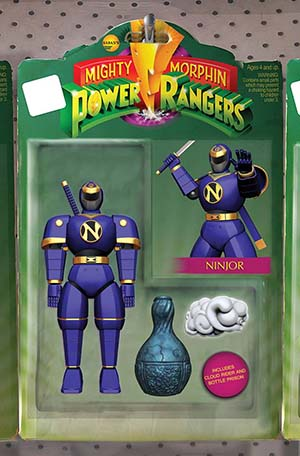 Mighty Morphin Power Rangers (BOOM Studios) #23 Cover B Variant Quest Matthews-Martial Action Figure Cover