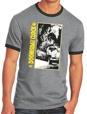 Batman Doomsday Clock Ringer T-Shirt Large