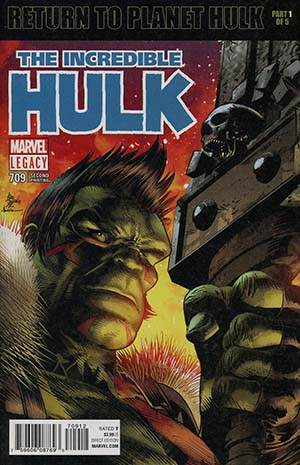 Incredible Hulk Vol 4 #709 Cover E 2nd Ptg Variant Mike Deodato Jr Cover (Marvel Legacy Tie-In)