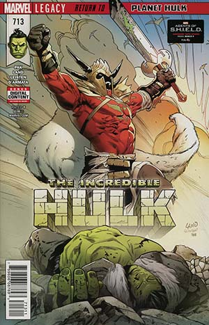 Incredible Hulk Vol 4 #713 Cover A Regular Greg Land Cover (Marvel Legacy Tie-In)