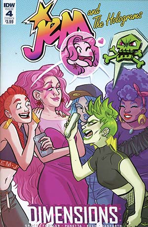 Jem And The Holograms Dimensions #4 Cover B Variant Hannah Fischer Cover
