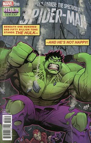 Peter Parker Spectacular Spider-Man #300 Cover B Variant David Nakayama Hulk Smash Cover (Marvel Legacy Tie-In)