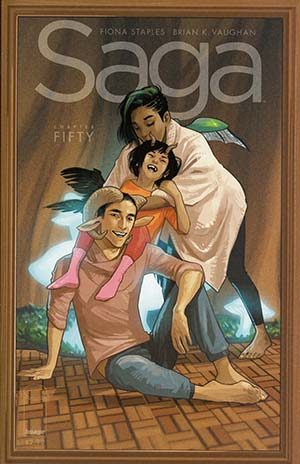 Saga #50 Cover A Regular Fiona Staples Cover