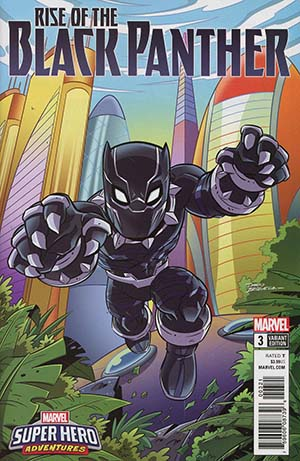 Rise Of The Black Panther #3 Cover B Variant Dario Brizuela Marvel Super Heroes Adventures Cover (Marvel Legacy Tie-In)