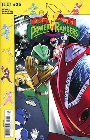 Mighty Morphin Power Rangers (BOOM Studios) #25 Cover B Variant Jordan Gibson Subscription Cover