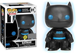 POP Heroes Justice League Batman Glow-In-The-Dark Silhouette Exclusive Version Vinyl Figure