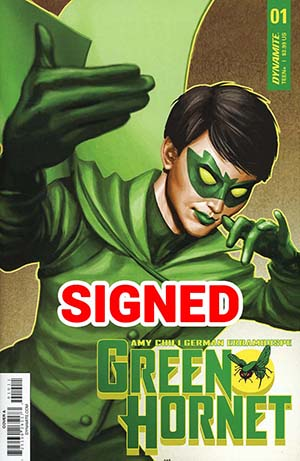 Green Hornet Vol 4 #1 Cover I Regular Mike Choi Cover Signed By Amy Chu