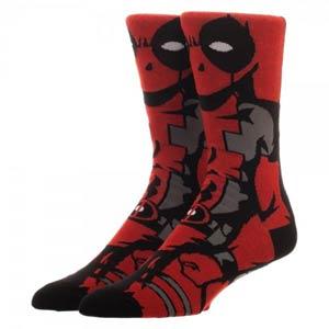 Marvel Comics Deadpool 360 Crew Socks