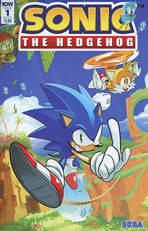 Sonic The Hedgehog Vol 3 #1 Cover A Regular Tyson Hesse Cover