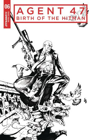 Agent 47 Birth Of The Hitman #6 Cover C Incentive Jonathan Lau Black & White Cover