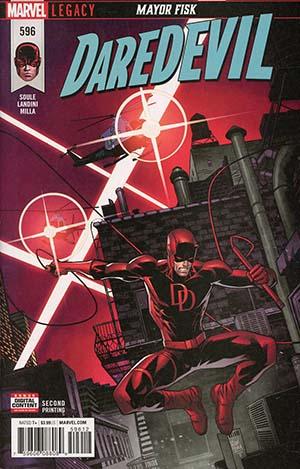 Daredevil Vol 5 #596 Cover C 2nd Ptg Variant Dan Mora Cover (Marvel Legacy Tie-In)