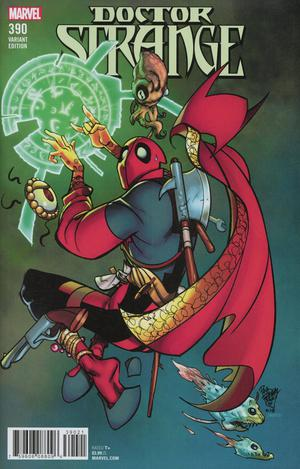 Doctor Strange Vol 4 #390 Cover B Variant Pasqual Ferry Deadpool Cover
