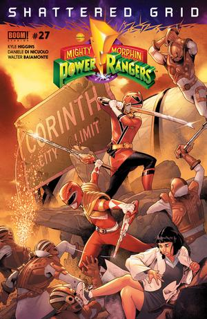 Mighty Morphin Power Rangers (BOOM Studios) #27 Cover A Regular Jamal Campbell Cover (Shattered Grid Part 1)