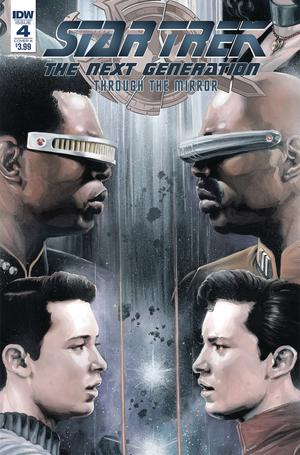 Star Trek The Next Generation Through The Mirror #4 Cover A Regular JK Woodward Cover