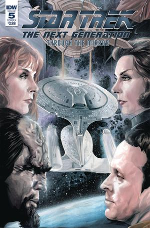 Star Trek The Next Generation Through The Mirror #5 Cover A Regular JK Woodward Cover