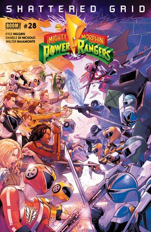 Mighty Morphin Power Rangers (BOOM Studios) #28 Cover A Regular Jamal Campbell Cover (Shattered Grid Part 3)