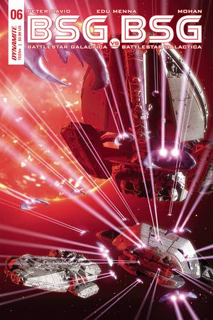 Battlestar Galactica vs Battlestar Galactica #6 Cover A Regular Adam Mojo Lebowitz Cover
