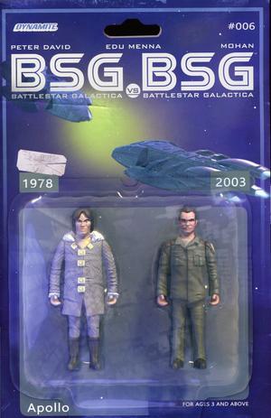 Battlestar Galactica vs Battlestar Galactica #6 Cover C Variant Michael Adams Apollo Action Figure Cover