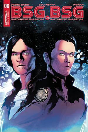 Battlestar Galactica vs Battlestar Galactica #6 Cover D Variant Roberto Castro Apollo Split Cover