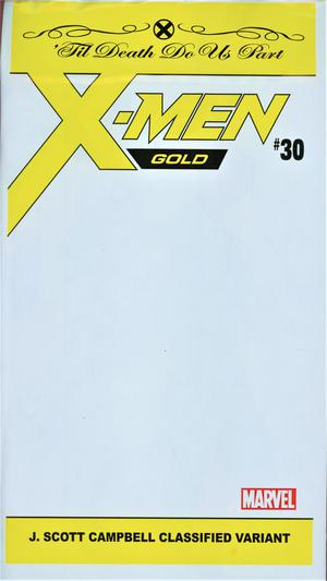 X-Men Gold #30 Cover C Variant J Scott Campbell Classified Cover With Polybag (Til Death Do Us Part Part 6)