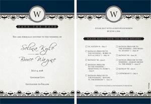 Batman Catwoman The Wedding Save The Date Promo Card