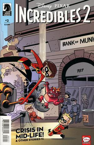 Disney Pixars Incredibles 2 Crisis In Mid-Life & Other Stories #2 Cover B Variant J Bone & Dan Jackson Cover
