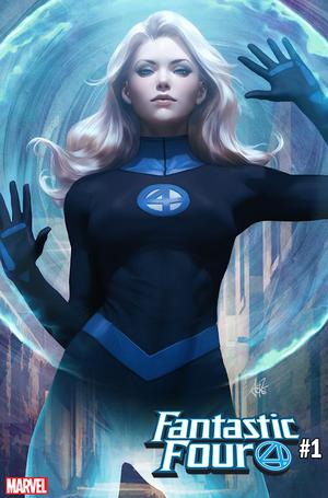 Fantastic Four Vol 6 #1 Cover F Variant Stanley Artgerm Lau Invisible Woman Cover