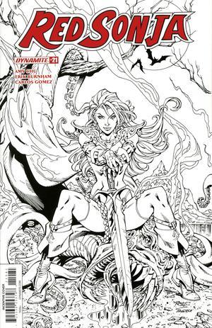 Red Sonja Vol 7 #21 Cover H Incentive John Royle Black & White Cover