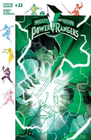 Mighty Morphin Power Rangers (BOOM Studios) #32 Cover B Variant Jordan Gibson Subscription Cover (Shattered Grid Epilogue)