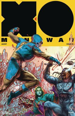 X-O Manowar Vol 4 #20 Cover E Incentive Renato Guedes Interlocking Variant Cover