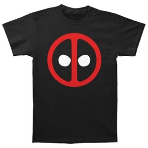 Deadpool Logo Fitted Jersey Black Mens T-Shirt Small