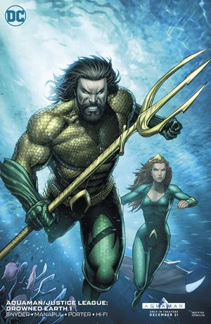Aquaman Justice League Drowned Earth #1 Cover B Variant Dale Keown Aquaman Movie Cover (Drowned Earth Part 4)