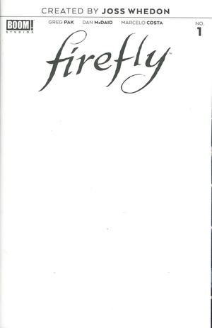 Firefly #1 Cover D Variant Blank Cover