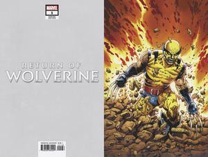 Return Of Wolverine #1 Cover Z Incentive Steve McNiven Original Costume Virgin Variant Cover
